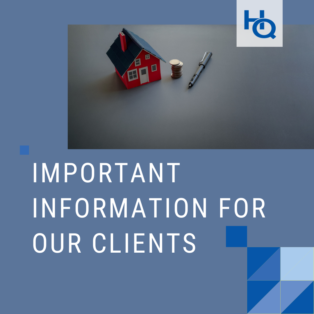 Important Information for Our Clients